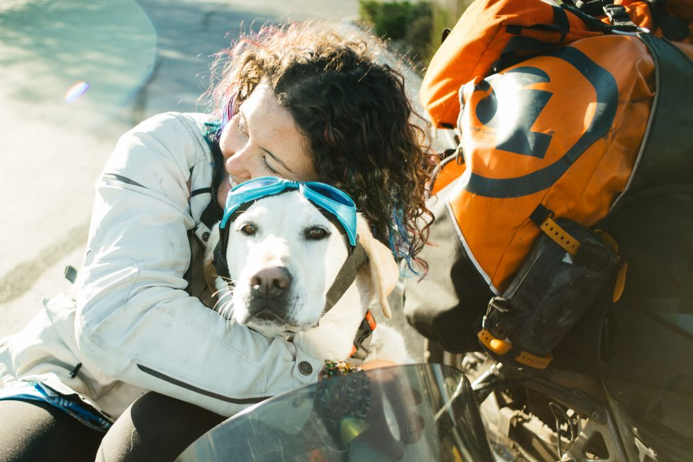 Mallory Paige and Baylor the Dog - Operation Moto Dog - Image by Joel Bear