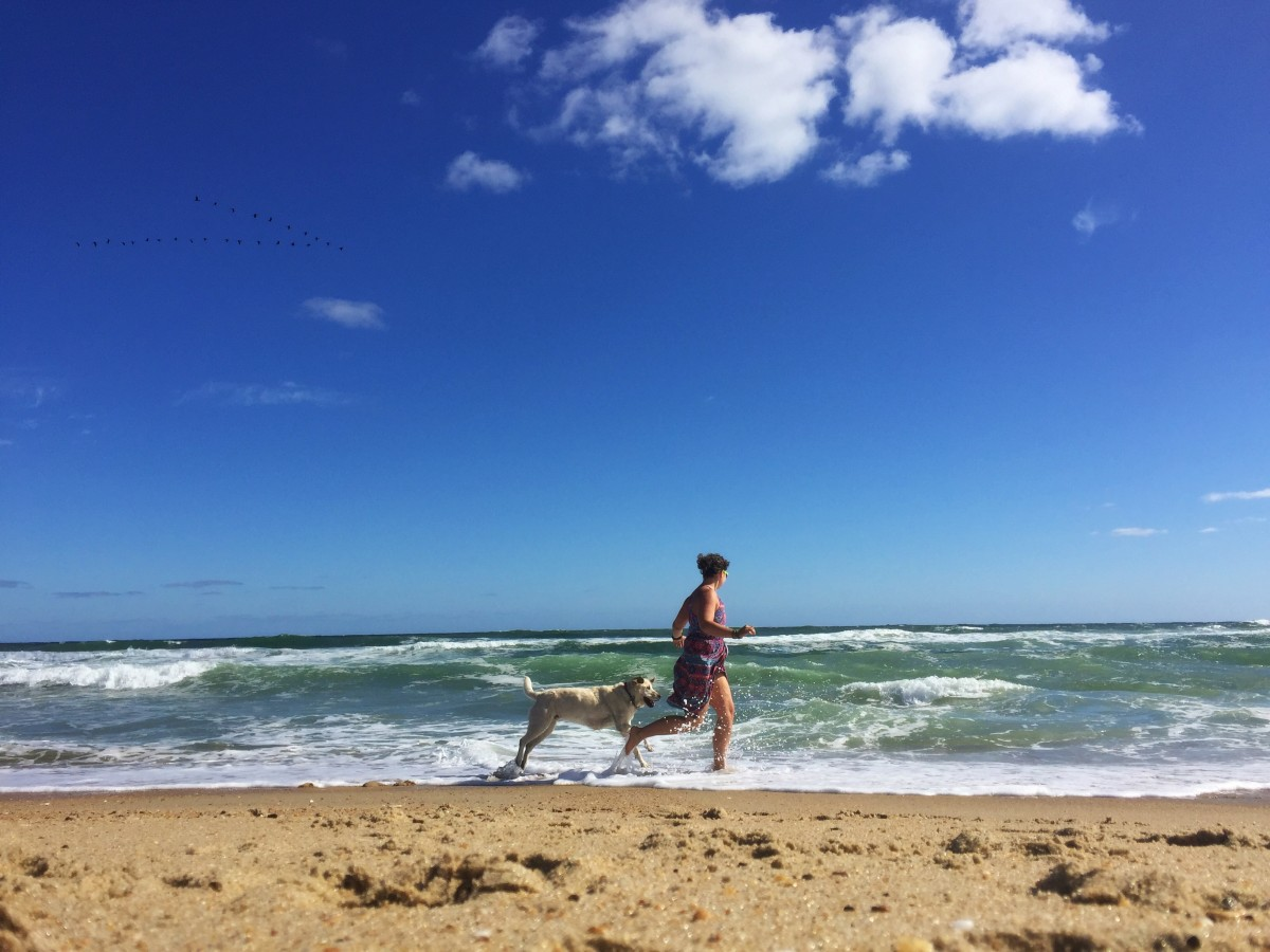 Mallory Paige and Baylor the Dog | Operation Moto Dog in the Outer Banks, North Carolina