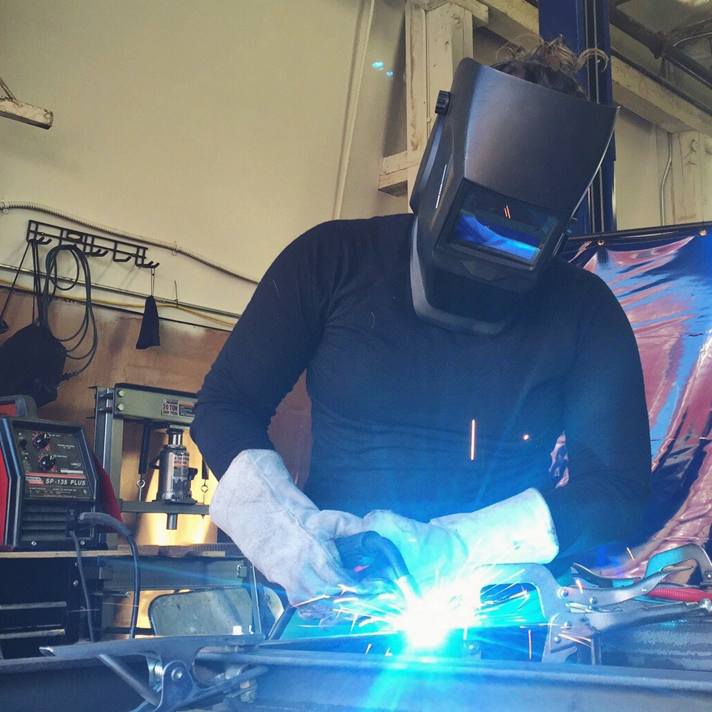 Mallory Paige | Welding the Operation Moto Dog Sidecar